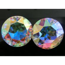 Ab color redondo piedra de cristal para la joyería