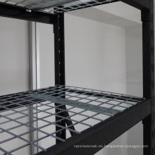 Estante de estantería industrial soldado con autógena negro resistente de acero 4-Layer