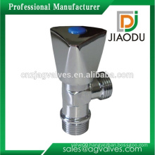forged npt customized chrome plating water brass angle valve manufacture