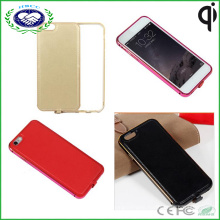 """Qi Wireless Charger Receiver Leather Aluminum Case Cover for Apple iPhone 6 4.7"""""""