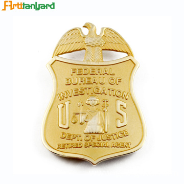 Metal Badge With Customer 2D Logo