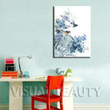Peinture moderne pour oiseaux sur toile pour décoration murale
