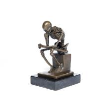 Klassischer Deco Skeleton Denker Skulptur Kunst Handwerk Bronze Statue Tpy-298