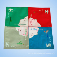 Plastic Matt Varnish Multicolor Cosmetics Packaging Bag for Facial Mask