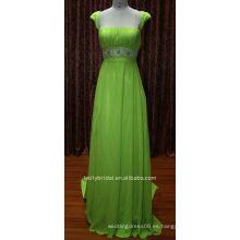 Verde con el vestido de cóctel moldeado de la faja vestidos de partido de tarde nadia