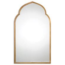 Antiqued золото с металлическим каркасом Настенное Зеркало для домашнего украшения