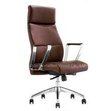 Chaise de bureau moderne en cuir véritable à pivot pivotant (HF-A1527)