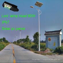 Nouvelles lampes solaires intégrées 70W avec Soalr PV Panel