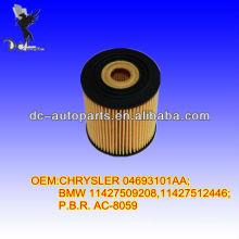 OIL FILTER FOR CHRYSLER 04693101AA; BMW 11427509208,11427512446; P.B.R. AC-8059