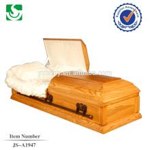 Chinês produziram caixão de madeira de estilo americano bem vindo com alta qualidade