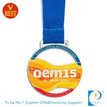 Médaille en métal de vernis de cuisson de conception spéciale colorée OEM15 au prix usine