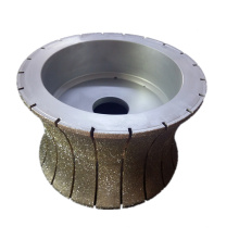electroplated diamond stone edge profiling wheel