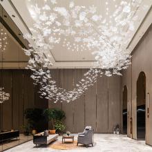 Elegant villa living room crystal glass chandelier lamp