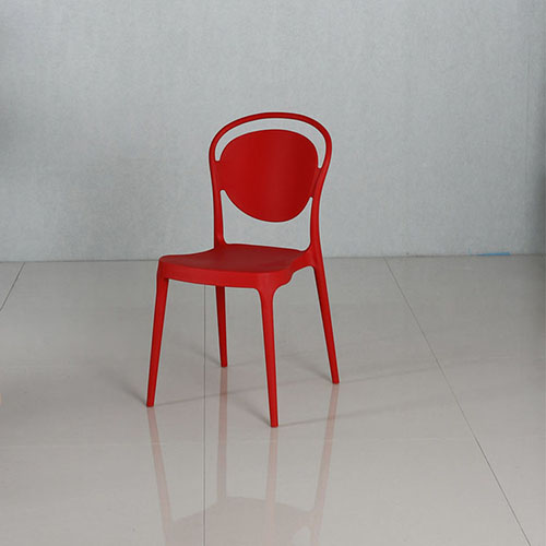 White Plastic Dining Chair