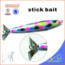 STB001 15 cm pêche appâts artificiels en bois pêche leurre bâton appât