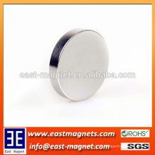 Individueller Hochenergetischer Seltenerd-NdFeB Magnet Erhältlich in Silber Farbe / Scheibe Magnet zum Verkauf