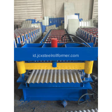 850 Metal Corrugated Roofing Sheet Roll Bekas