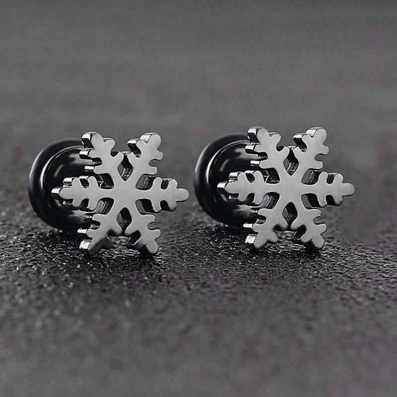 Snowflake Earrings Studs