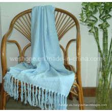 Tiro de bambú, manta de bambú, fibra de bambú de lanzar Bb-09121