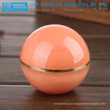 YJ-O50 50g boca larga camadas dobro high-end popular laranja 50g bola acrílico jar