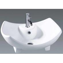 Lavatório único da cerâmica da lavagem da bacia do banheiro (037)