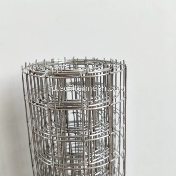 3/8 '' 304 Gulungan Wire Mesh Stainless Steel Dilas