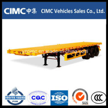 Cimc 40FT 3-Axle Flatbed Container Semi Trailer on Hot Sale