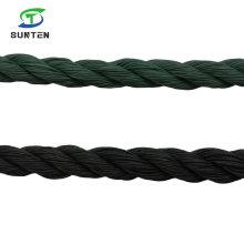 Black/Green/PE/Nylon/Polyethylene/Synthetic/Plastic/Fishing/Marine/Mooring/Packing/Twist/Twisted/Battle Rope