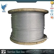 ASTM A312 AISI310 cabo de aço inoxidável revestido de plástico