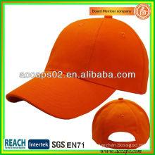 Plain Orange 6 Panel Baseball Caps For Sale ABC-1237