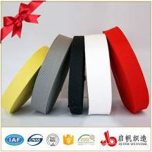 Correas de poliéster no elásticas negras o coloridas de 25m m para la ropa