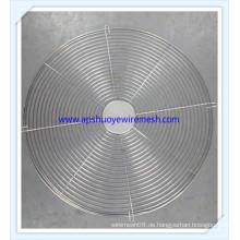 Elektrische Lüfterabdeckung Edelstahl Spiralkabel Runde Lüfterschutz