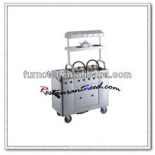 S098 Stainless Steel Kitchen Trolley Tea Service Cart