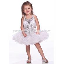 Novo design colorido vestido de noiva de bebê pequeno vestido de menina de flor bonito mini vestido de hongkong