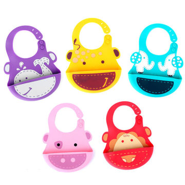 Infant Baby Toddler Silicone Bib Feeding Food Catcher