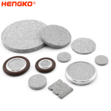 HENGKO Customed high quality sintered porous SS 316L stainless steel alcohol filter disc corrosion resistance pem filter