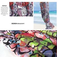 Nuevo diseño de pequeño MOQ impreso ropa de playa / Casual ropa tela