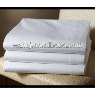 folhas planas brancas da lavanderia comercial do polycotton T180 percal