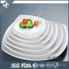 Prato de jantar quadrado mais vendido, louça de porcelana branca
