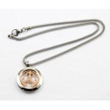 Nouveau Design Silver Living Bijoux collier de médaillon