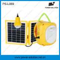 Mini lanterne solaire qualifiée 4500mAh / 6V avec le chargeur de téléphone portable et l'ampoule pour la pièce (PS-L069)