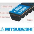 Mitsuboshi Belting durable and energy saving e-POWER raw edge cogged v-belt. Made in Japan (elevator belt)