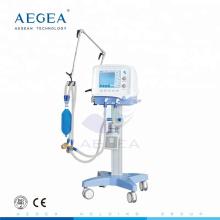 AG-HXJ01 Ambulancia paciente médica utilizado aparato de respiración móvil respirador de oxígeno del hospital ventilador de la máquina icu precio