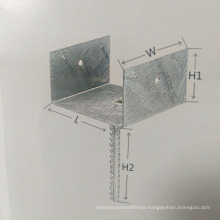 L type Galvanized Ground Post Anchor