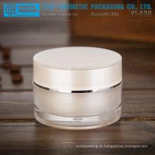 YJ-A30 30g bom pérola branca de boa qualidade alta clara cilindro 30ml acrílico frasco de creme