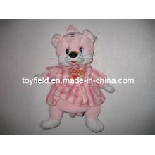 Bolsa de brinquedo de pelúcia mochila saco de pelúcia de rato rosa