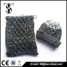 wholesale promotion high quality warm beanie christmas gift hat and scarf winter knit hat and scarf