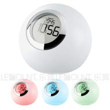 Lumière LED de nuit à LED avec horloge et réveil (LNT010A)