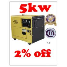 Generador diesel silencioso del cilindro simple 5kw BV SGS ISO CE