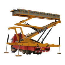 Hydraulic electric tracked rooftop mobile  lifting platform with car
